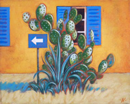 'Cactus with Window and Sign'